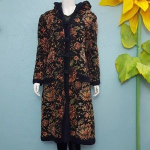 Vintage 60's tapestry coat with hood